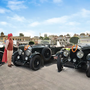 A vintage automobile carnival in Jaipur