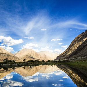 The rugged Nubra Valley