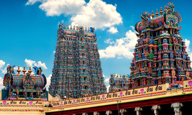 View of Meenakshi Amman Temples in Madurai, Tamil Nadu