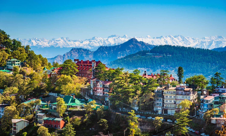 Cityscape of Shimla, Himachal Pradesh