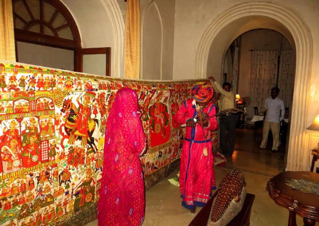 Phad painting at Rajasthan