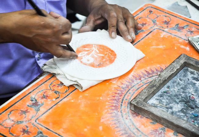 Artist work in Agra
